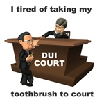 Toothbrush in Court