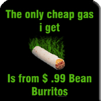 Cheap Gas bean burritos