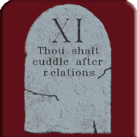 Thou shalt cuddle after relations Merchandise