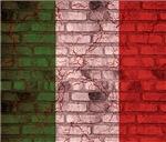 Brick Wall Italian Flag