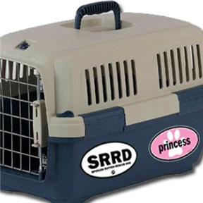 Dog Carrier Euro Stickers