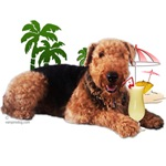 Airedale with Pina Colada by Vampire Dog