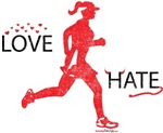 Ladies Love Hate Running Washed