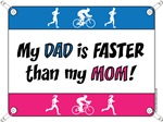My Dad is FASTER than my Mom - DU