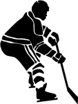 Hockey Defender Silhouette