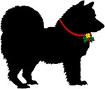 Christmas or Holiday Chow Chow Silhouette