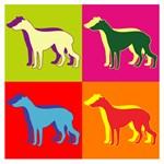 Greyhound Silhouette Pop Art