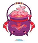 Kawaii Bat Cauldron