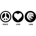 Peace Love Lion