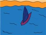Lone Boat (blue)
