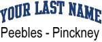 Blue Surname Design Peebles - Pinckney