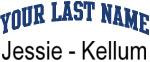 Blue Surname Design Jessie - Kellum