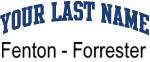 Blue Surname Design Fenton - Forrester