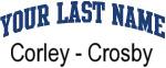 Blue Surname Design Corley - Crosby