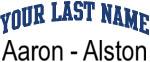 Blue Surname Design Aaron - Alston