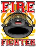 Fire Fighter Black Helmet