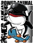 Power Animal Orca Skateboarder