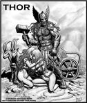 THOR WITH THRALLS AND CHARIOT T-shirt