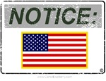 Notice (Gray with Color U.S. Flag)