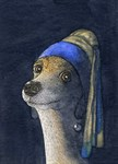 Dog with a pearl earring