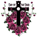 Day of the Dead-cross and roses