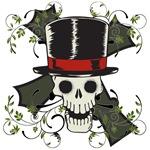 TOP HAT-SKULL & CROSS
