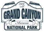 Grand Canyon National Park Blue Signage
