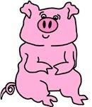 HUGE PAINTED PIG