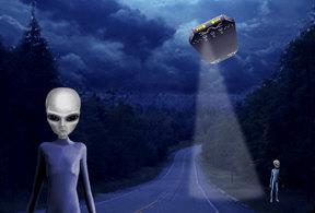 Alien Night Watch & UFO by Marc Brinkerhoff