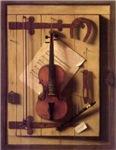 Violin on wall
