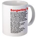 Songwriting Tips - Mugs,Gifts and Clothing.