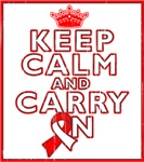 Oral Cancer Keep Calm Carry On Shirts