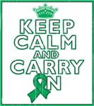 Liver Cancer Keep Calm Carry On Shirts