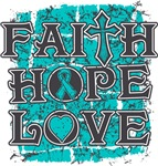 Gynecologic Cancer Faith Hope Love Shirts