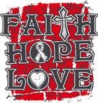 Bone Cancer Faith Hope Love Shirts