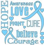 Prostate Cancer Hope Words Shirts