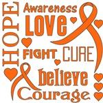 Multiple Sclerosis Hope Words Shirts