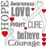 Bone Cancer Hope Words Shirts