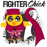 Throat Cancer Fighter Chick Shirts