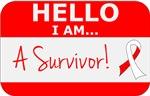 Oral Cancer Hello I'm A Survivor Shirts