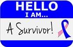 Male Breast Cancer Hello I'm A Survivor Shirts