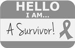 Brain Tumor Hello I'm A Survivor Shirts