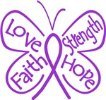 Sarcoidosis Butterfly Strength Shirts