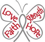 Brain Tumor Butterfly Strength Shirts