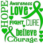 Bile Duct Cancer Hope Words Shirts