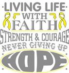 Testicular Cancer Living Life With Faith Shirts