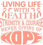 Uterine Cancer Living Life With Faith Shirts