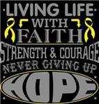 Sarcoma Living Life With Faith Shirts