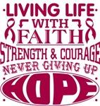 Multiple Myeloma Living Life With Faith Shirts