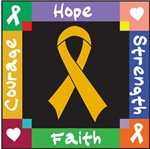 Appendix Cancer Courage Hope Shirts